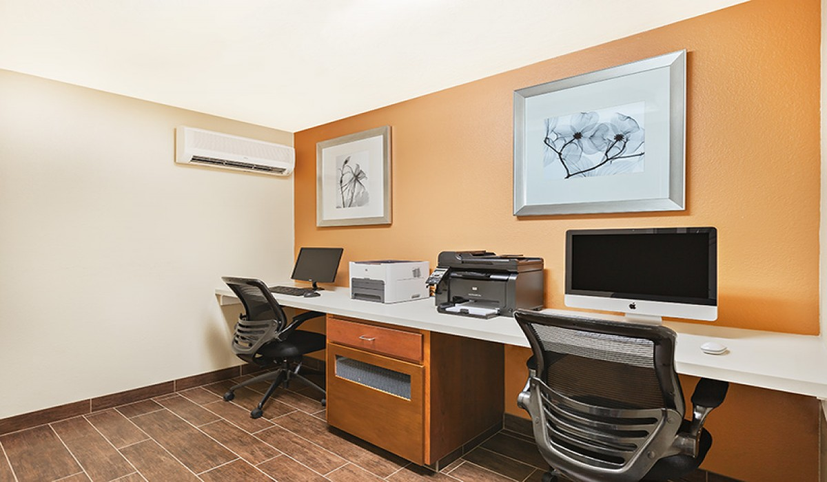 Featuring executive style amenities with free high-speed internet & a business center