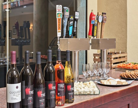 Holiday Inn Express and Suites MH - Manager's Reception with craft beer and local wine