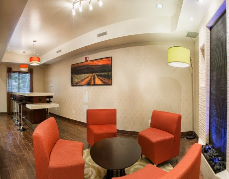 Holiday Inn Express and Suites MH - Lounge Area with Sofas